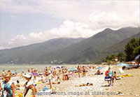 Georgia Beach in Abkhazia Region