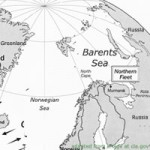Map of Barents Sea and Polar Environs