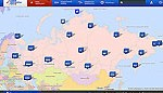 File Image of Map of Russia for Polling Place Webcams