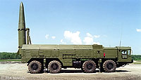 Iskander Tactical Nuclear Weapon with Mobile Launcher File Photo