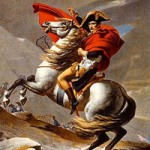 Painting of Napoleon Bonaparte on Horseback