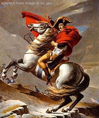 Painting of Napoleon Bonaparte on Horseback