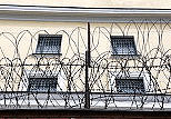 Russian Jail File Photo Showing Outer Wall, Windows, Barbed Wire