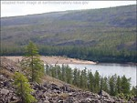 Siberian Natural Scenery, with River, Trees, Hills