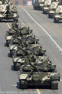 File Photo of Tanks on Parade