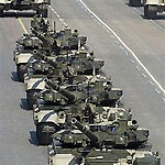 File Photo of Russian Tanks on Parade