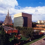 Artist&#039;s Rendition of U.S. Embassy, Moscow, with the Russian Foreign Ministry in the Background