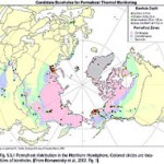 Polar Map Showing Permafrost Areas, Adapted From NOAA.gov Graphic