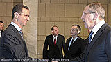 File Photo of Bashar al-Assad and Sergei Lavrov
