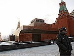 Lenin Mausoleum on Red Square, Kremlin Walls, Sentry