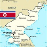 North Korea Map and Flag