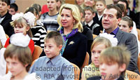 File Photo of Russian Orphans with Mr. and Mrs. Dmitry Medvedev