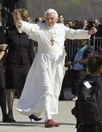 File Photo of Pope Benedict XVI Waving at Crowds From Runway