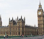 File Photo of British Parliament Building Including Saint Stephen&#039;s Tower Containing Big Ben