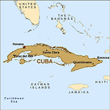 Map of Cuba and Environs