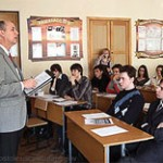 File Photo of U.S. Diplomat Teaching Class to Russian Students