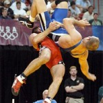 File Photo of Olympic Wrestling Match, adapted from defense.gov image