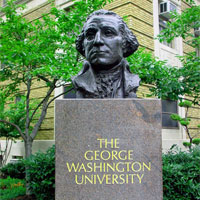 File Photo of George Washington Bust at George Washington University