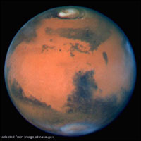 Planet Mars file photo