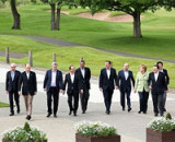 File Photo of G8 Heads of State Outdoors in 2013