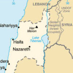 Partial Map of Portions of Northern Israel, Golan Heights, Syria, Lebanon