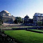 Columbia University Campus with Main Building