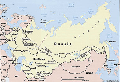 Map of Former Soviet Union