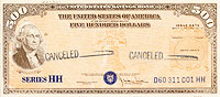 U.S. Treasury HH Series Savings Bond file photo