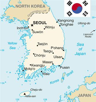 south-korea-map-flag