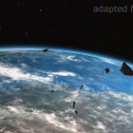 File Image of Earth Orbit and Asteroids