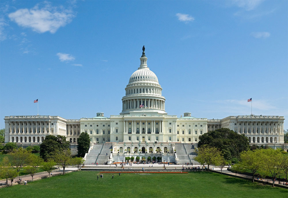 File Photo of U.S. Capitol in Bright Sunlight