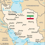 Iran Map and Flag