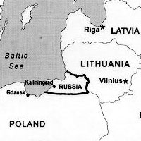 Kaliningrad Map, adapted and cropped from army.mil image with credit to Jim Kistler, USAWC