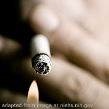 Cigarette Being Lit