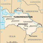 Map of Turkmenistan and Environs