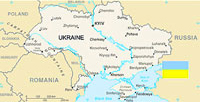 Ukraine Map and Flag