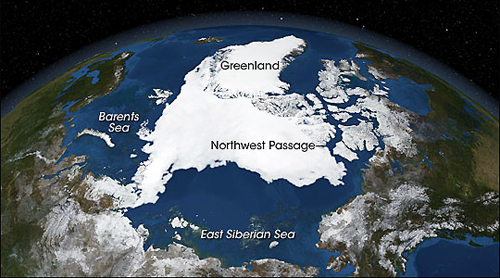 Arctic Satellite Image and Map