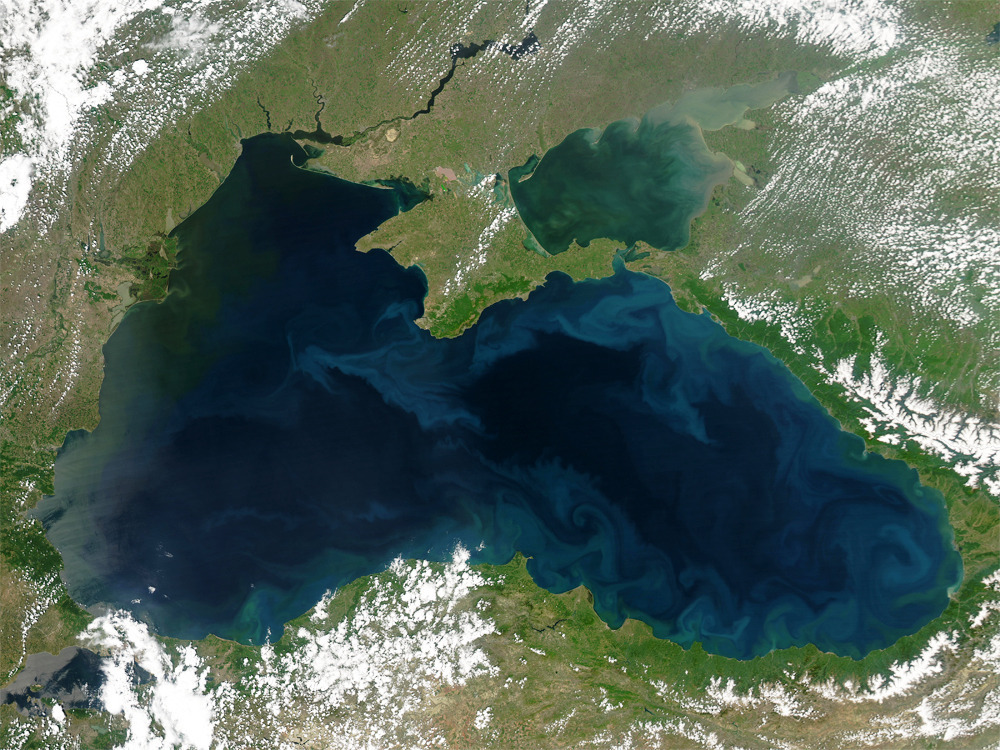 Black Sea Satellite Photo file image