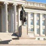 Portion U.S. Treasury Department Building Facade, North Side, with Sculpture of Alexander Hamilton