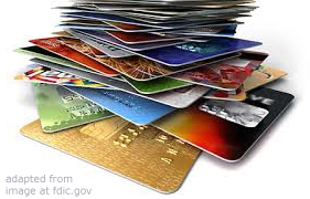 File Photo of Stack of Credit Cards, adapted from image at fdic.gov