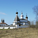 Ferapontov Monastery file photo, adapted from wikimedia commons image at http://commons.wikimedia.org/wiki/File:Ferapontov_Monastery_020509.jpg, posted by Enotovidnii