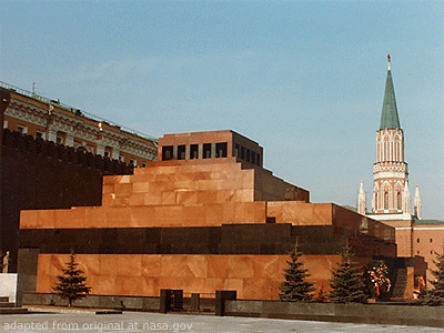 Lenin Mausoleum on Red Square, Kremlin Walls