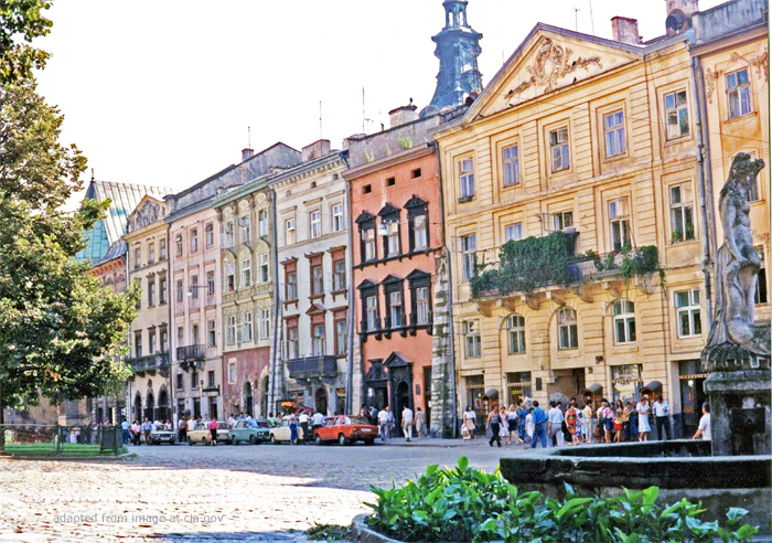 File Photo of Street in Lviv