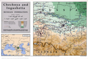 Caucasus Map of Chechnya and Caucasus Environs