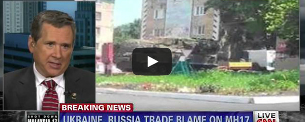CNN Screenshot With News About Ukraine and Russia and Air Disaster