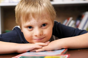 File Photo of Child with Down's Syndrome, adapted from image at cdc.gov