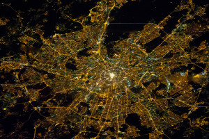 Moscow Night Lights Satellite Image