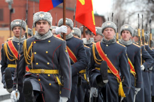 Russian Soldiers Marching
