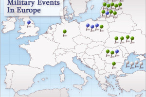 Map of U.S. Military Activities in Europe
