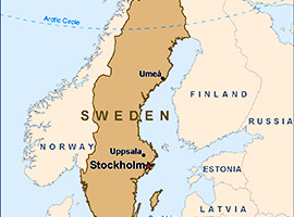Map of Sweden and Environs